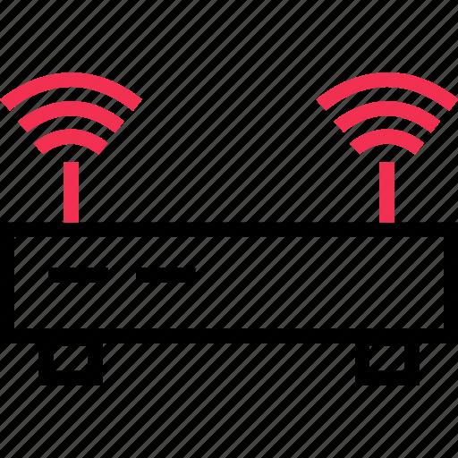antenna, router, wifi icon