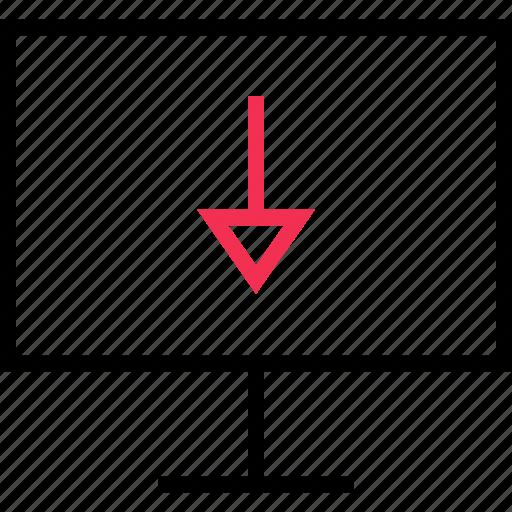 arrow, attachment, down icon