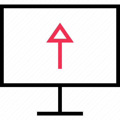 arrow, connect, up icon