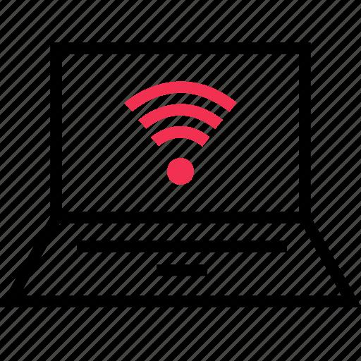 computer, connection, lapto icon