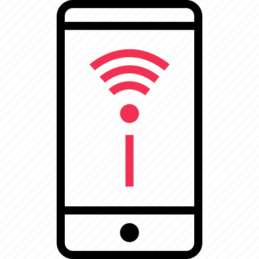 cell, mobile, phone, signal, wifi icon