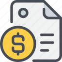 banking, business, document, file, finance icon