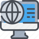business, computer, global, information, seo icon