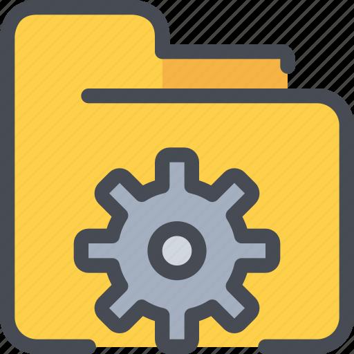 business, data, file, folder, gear, process icon