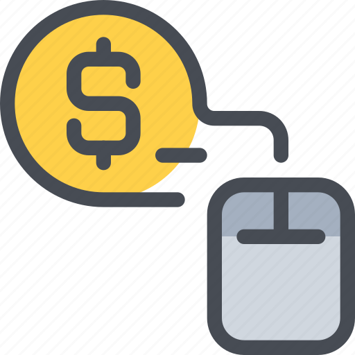 business, click, mouse, pay, per, seo icon