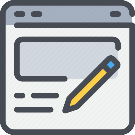 browser, business, content, marketing, website icon