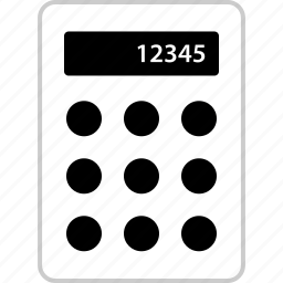 calculator, finance, math, numbers icon