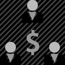 dollar, money, sign, team icon