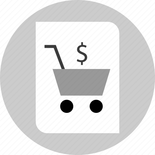 cart, page, report, shopping icon