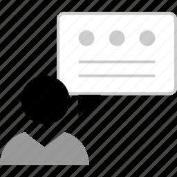 boss, chat, talk, user icon