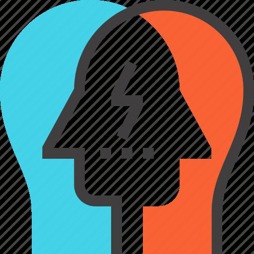 brain, brainstorm, head, human, idea, team, think icon