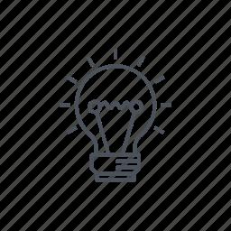 bulb, creative, idea, lamp, lamp indicators, light, lightbulb icon