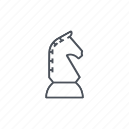 chess, chess piece, horse, horses, piece, shape, strategy icon