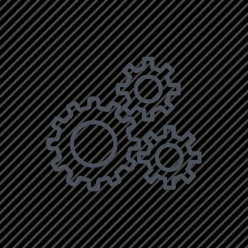 circular, cog, cogs, cogwheel, cogwheels, group, three, tool, tools icon