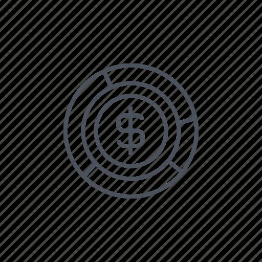 dollar symbol, graph, graphic, money, statistics, stats icon