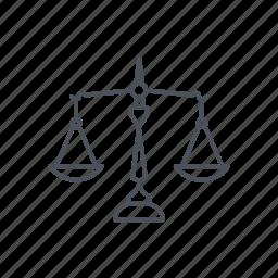 equal, judge, jury, law, legal, trial icon