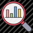 analysis, chart, graph, market, search