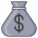 bag, budget, cost, dollar, saving icon