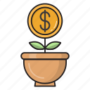 dollar, growth, increase, investment, money