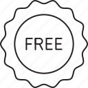 free, label, sticker, tag