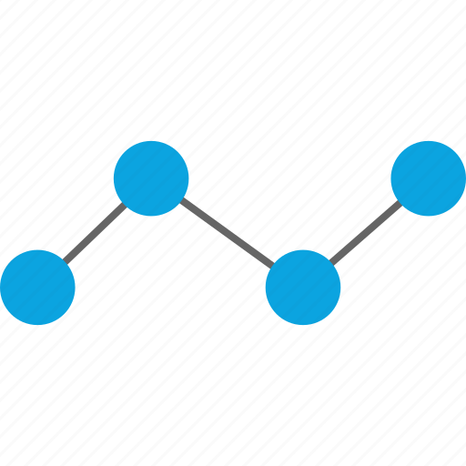 analytics, data, points, web icon