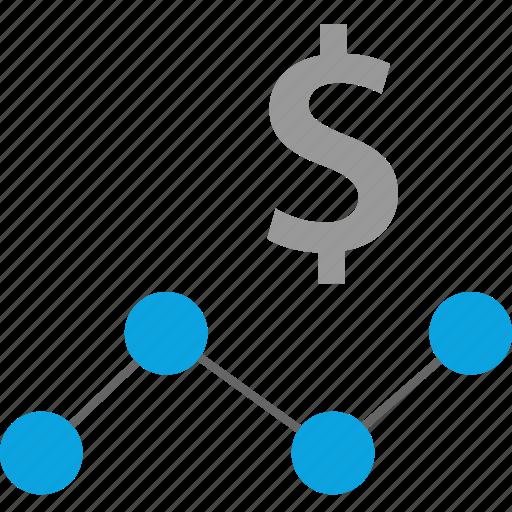 analytics, dollar, web icon