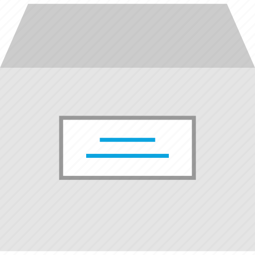 box, cabinet, file, papers icon