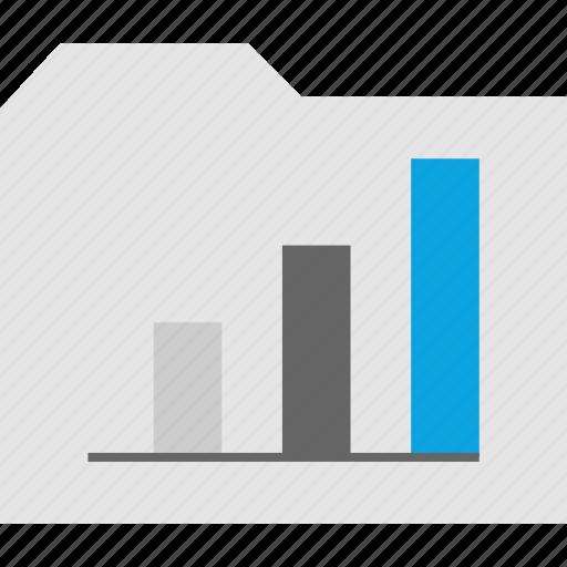 analytics, data, file, folder icon