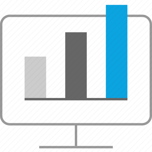 analytics, data, high, sales icon