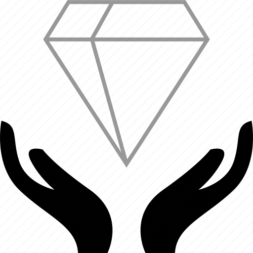 diamond, hold, transfer, wealth icon