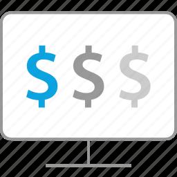 finance, money, online, web icon