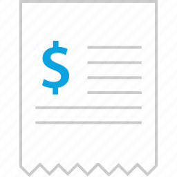 business, payment, receipt, web icon