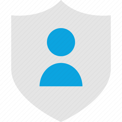 business, shield, user, web icon