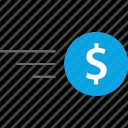 finance, money, online, transfer icon