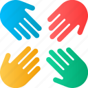 assistance, help, mutual help, teamwork, together icon
