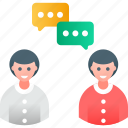 business, collaboration, conversation, discussion, meeting, talk icon