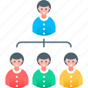 business, businessman, management, manager, marketing, organization, subordination icon