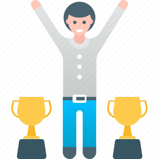 achievement, business, happy, success, successful, trophy, winner icon