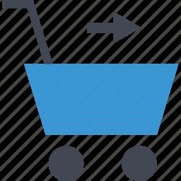 add, arrow, cart, next icon