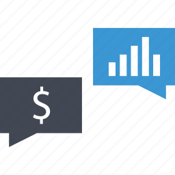 business, chat, graph, talk icon