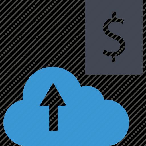 arrow, business, cloud, upload icon