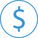 business, dollar, money, sign icon