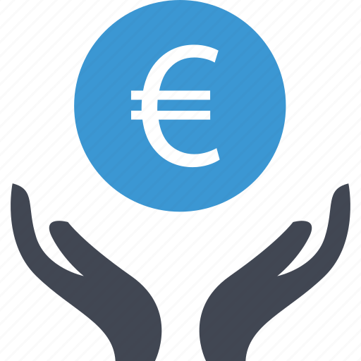 business, euro, money, sign icon