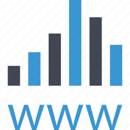 bars, business, data, graph, www icon