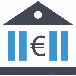 bank, banking, euro, sign icon