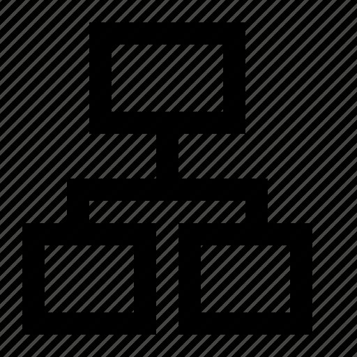 diagram, hierarchy, organization, organizational, organogram, structure icon