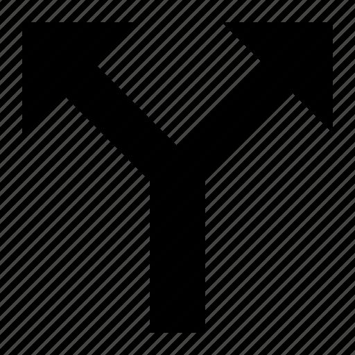 Bifurcate, distribution, fork, split, divide icon - Download on Iconfinder