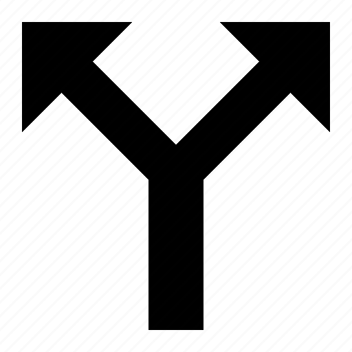 bifurcate, distribution, divide, fork, split icon