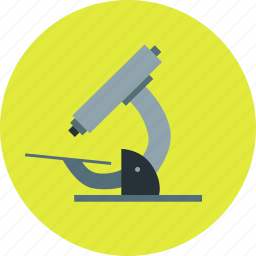 biology, experiment, microscope, research, science icon