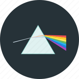 experiment, physics, prism, science icon